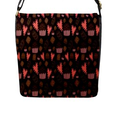 Bread Chocolate Candy Flap Messenger Bag (L)