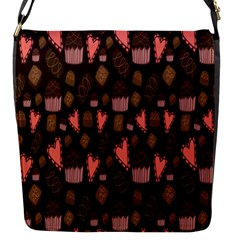 Bread Chocolate Candy Flap Messenger Bag (S)
