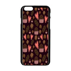Bread Chocolate Candy Apple iPhone 6/6S Black Enamel Case