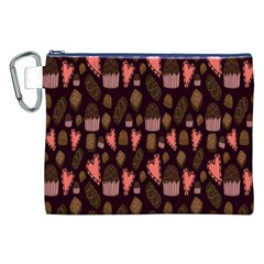 Bread Chocolate Candy Canvas Cosmetic Bag (XXL)