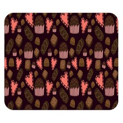 Bread Chocolate Candy Double Sided Flano Blanket (Small)