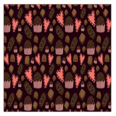 Bread Chocolate Candy Large Satin Scarf (Square)