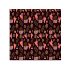 Bread Chocolate Candy Small Satin Scarf (Square)