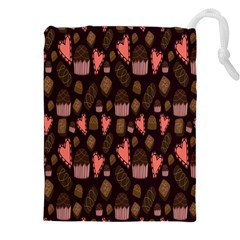 Bread Chocolate Candy Drawstring Pouches (XXL)