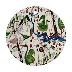 Bird Green Swan Ornament (round)