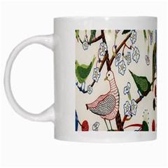 Bird Green Swan White Mugs