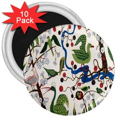 Bird Green Swan 3  Magnets (10 pack)