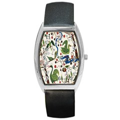 Bird Green Swan Barrel Style Metal Watch