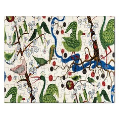 Bird Green Swan Rectangular Jigsaw Puzzl