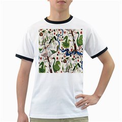 Bird Green Swan Ringer T-Shirts