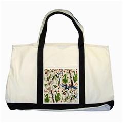 Bird Green Swan Two Tone Tote Bag