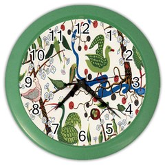 Bird Green Swan Color Wall Clocks