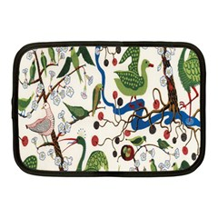 Bird Green Swan Netbook Case (Medium)