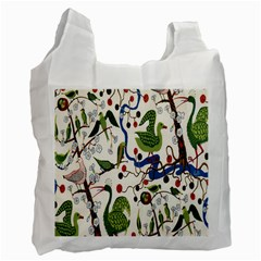 Bird Green Swan Recycle Bag (One Side)
