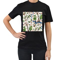 Bird Green Swan Women s T-Shirt (Black)