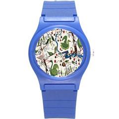 Bird Green Swan Round Plastic Sport Watch (S)