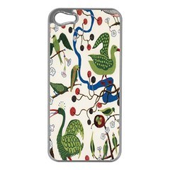Bird Green Swan Apple iPhone 5 Case (Silver)