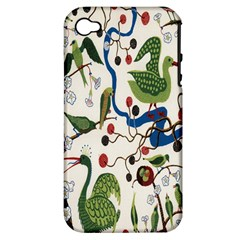 Bird Green Swan Apple iPhone 4/4S Hardshell Case (PC+Silicone)