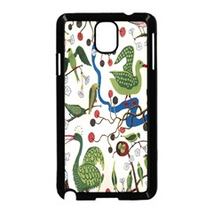 Bird Green Swan Samsung Galaxy Note 3 Neo Hardshell Case (Black)