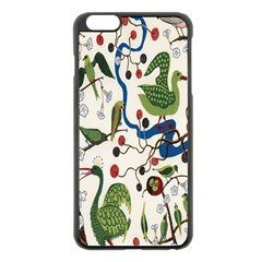 Bird Green Swan Apple iPhone 6 Plus/6S Plus Black Enamel Case