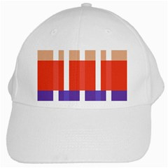 Compound Grid Flag Purple Red Brown White Cap