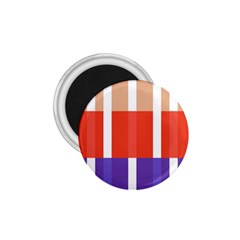 Compound Grid Flag Purple Red Brown 1.75  Magnets