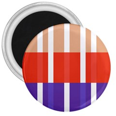 Compound Grid Flag Purple Red Brown 3  Magnets