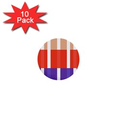 Compound Grid Flag Purple Red Brown 1  Mini Buttons (10 pack)
