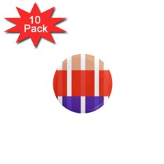 Compound Grid Flag Purple Red Brown 1  Mini Magnet (10 pack)