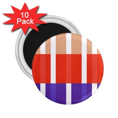 Compound Grid Flag Purple Red Brown 2.25  Magnets (10 pack)