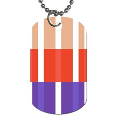 Compound Grid Flag Purple Red Brown Dog Tag (One Side)
