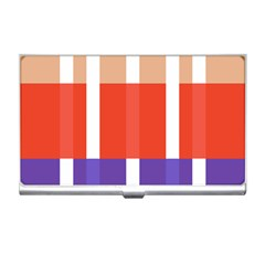 Compound Grid Flag Purple Red Brown Business Card Holders