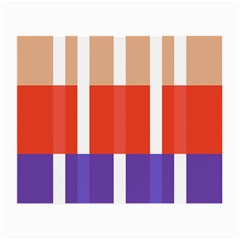Compound Grid Flag Purple Red Brown Small Glasses Cloth