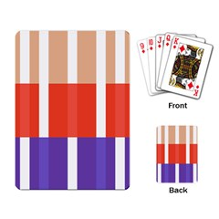 Compound Grid Flag Purple Red Brown Playing Card
