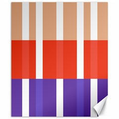 Compound Grid Flag Purple Red Brown Canvas 8  x 10