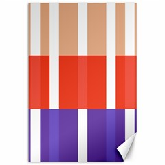 Compound Grid Flag Purple Red Brown Canvas 12  x 18