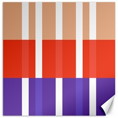 Compound Grid Flag Purple Red Brown Canvas 16  x 16