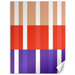Compound Grid Flag Purple Red Brown Canvas 36  x 48