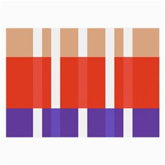 Compound Grid Flag Purple Red Brown Large Glasses Cloth (2-Side)