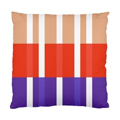 Compound Grid Flag Purple Red Brown Standard Cushion Case (Two Sides)