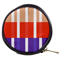 Compound Grid Flag Purple Red Brown Mini Makeup Bags