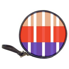 Compound Grid Flag Purple Red Brown Classic 20-CD Wallets