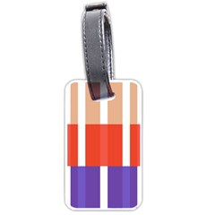 Compound Grid Flag Purple Red Brown Luggage Tags (One Side)