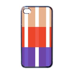 Compound Grid Flag Purple Red Brown Apple iPhone 4 Case (Black)