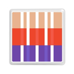 Compound Grid Flag Purple Red Brown Memory Card Reader (Square)