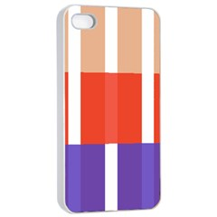 Compound Grid Flag Purple Red Brown Apple iPhone 4/4s Seamless Case (White)