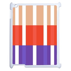 Compound Grid Flag Purple Red Brown Apple iPad 2 Case (White)
