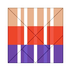 Compound Grid Flag Purple Red Brown Acrylic Tangram Puzzle (6  x 6 )