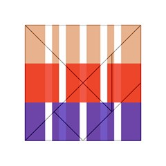 Compound Grid Flag Purple Red Brown Acrylic Tangram Puzzle (4  x 4 )