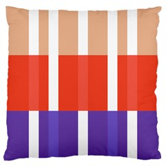 Compound Grid Flag Purple Red Brown Large Cushion Case (Two Sides)